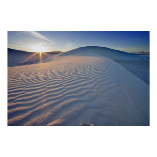 Sand dunes at White Sands National Monument in 5 Poster