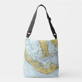 Sanibel Island nautical map Tote Bag