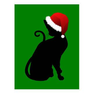 Santa Cat Postcard