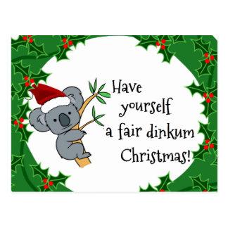 Santa Koala - Fair Dinkum Postcard