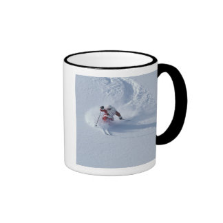 Santa Skiing at Snowbird Ski Resort, Wasatch Ringer Mug