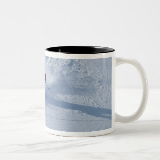 Santa Skiing at Snowbird Ski Resort, Wasatch Two-Tone Mug