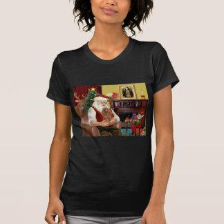 Santa's Apricot Toy/Min. Poodle T Shirt