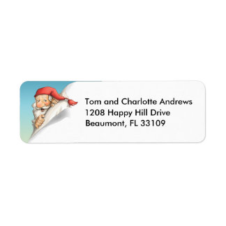 Santa's Christmas List Return Address Label