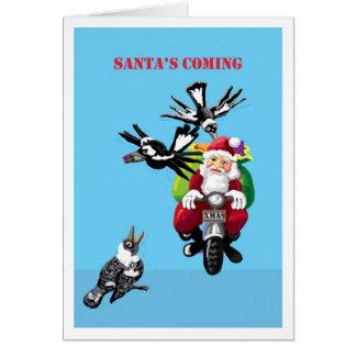Santa's coming - Australian Christmas card