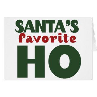 Santas Favorite HO funny christmas design Note Card