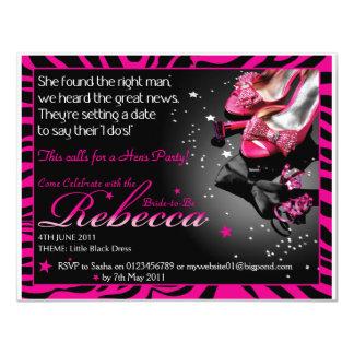 Sasha_HensParty 11 Cm X 14 Cm Invitation Card