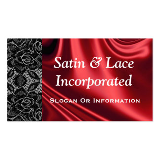 Satin And Lace Business Cards