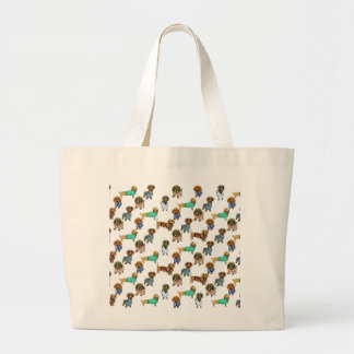 Sausage dogs / dachshunds with jumpers jumbo tote bag