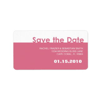 SAVE THE DATE LABEL ADDRESS LABEL