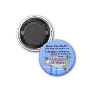 Save the Date  Las Vegas Weddin 3 Cm Round Magnet