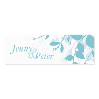 SAVE THE DATE :: natural silhouette landscape Pack Of Skinny Business Cards