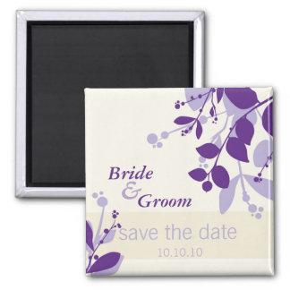 SAVE THE DATE :: nature - vanilla lilac purple Square Magnet