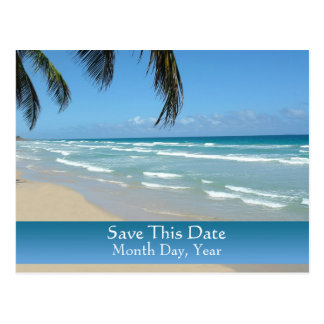 Save the Date Postcard for Beach Wedding
