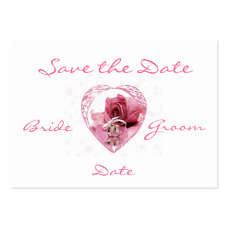 Save the Date Profile Card Pack Of Chubby Business Cards