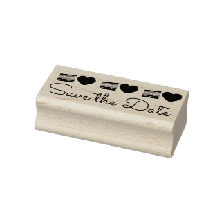 Save the Date Wedding Layer Cake Love Hearts Stamp
