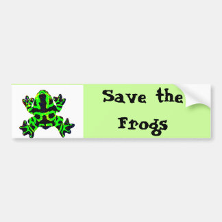 save the frogs, Save the Frogs Bumper Sticker