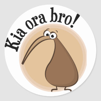 Say Hello in Kiwi Round Sticker