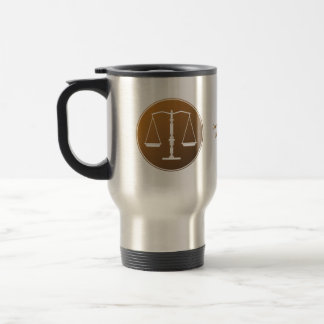 Scales of Justice   Personalizable Stainless Steel Travel Mug
