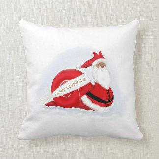 """""""S'cargot"""" Snail Santa  Claus Throw Cushions"""