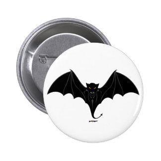 Scary Black Bat 6 Cm Round Badge