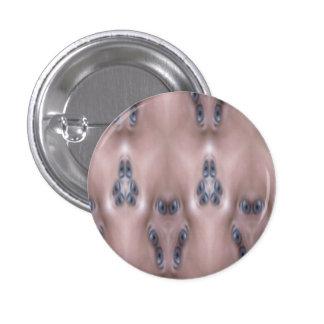 Scary eyes 3 cm round badge