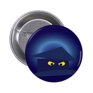 Scary House  Silver Moon 6 Cm Round Badge