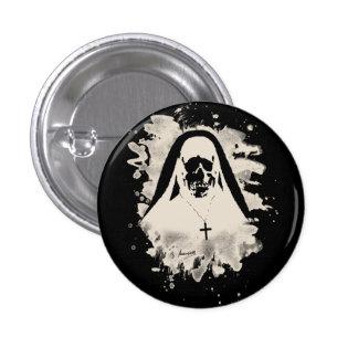 Scary now - cream white 3 cm round badge