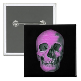 Scary Scull 15 Cm Square Badge