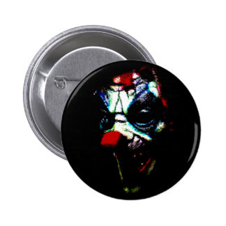 Scary Shadow Clown Button