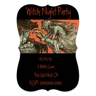 Scary Witch Halloween Party Invitation