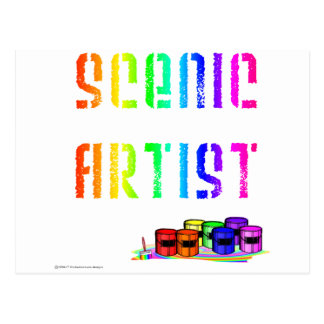 Scenic Artist (For Light Colored Products) Postcard