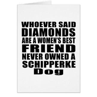 SCHIPPERKE DOG BEST FRIEND DESIGNS GREETING CARD