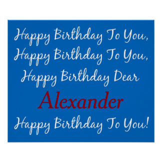 School Days B and White Birthday Song Personalized Poster