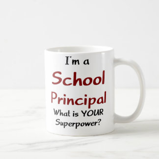 School principal basic white mug