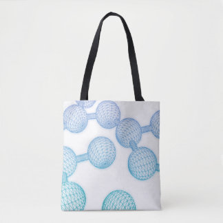 Science Atom and Chemical Formula as Concept Tote Bag