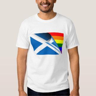 Scotland Gay Pride Rainbow Flag Tees