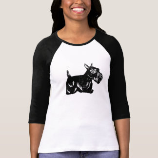 Scottie Dog Ladies 3/4 Sleeve Raglan Top Shirt