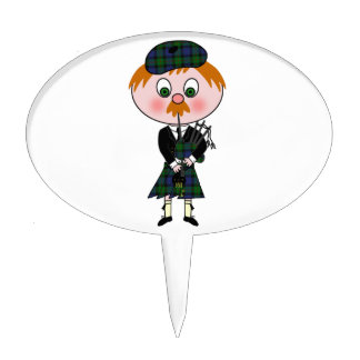 Scottish Pagpiper Cake Toppers