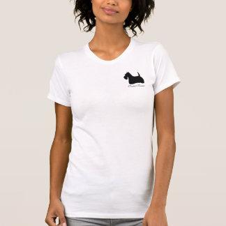 Scottish Terrier dog silhouette logo women t-shirt