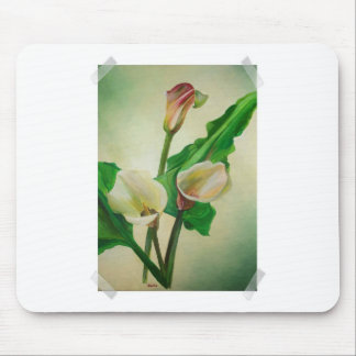 Scrap Book Callas Mouse Pad