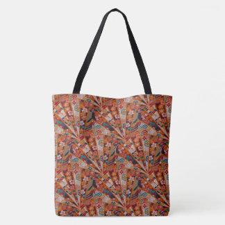 Screens Oriental Fabric Tote Bag