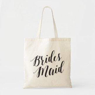 Script Tote   Bridesmaid Budget Tote Bag