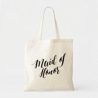 Script Tote   Maid of Honor Budget Tote Bag