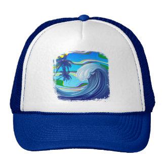Sea Ocean big Wave Water trucker hat