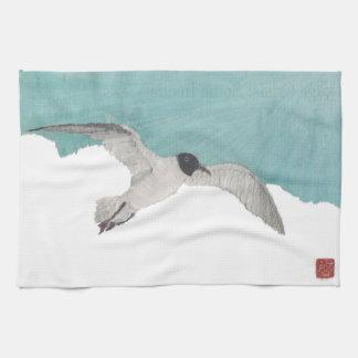 Seagull, Blue Sky, Cloud, Coastal Kitchen Towel
