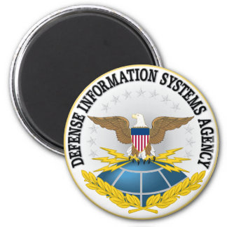 Seal of Defense Information Systems Agency 6 Cm Round Magnet
