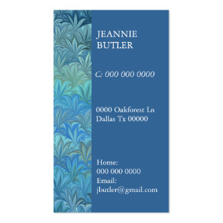 Sealife Pack Of Standard Business Cards