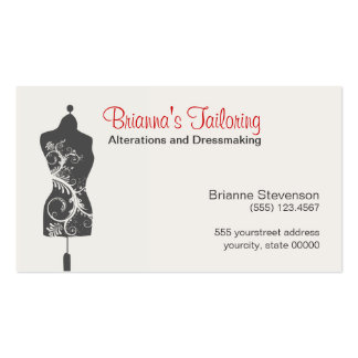Seamstress Mannequin Mannequin Pack Of Standard Business Cards