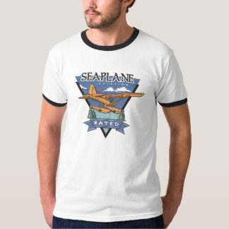 Seaplane Aviation Rated T-shirts